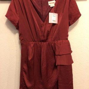 NWT Showpo Red Satin Wrap Dress